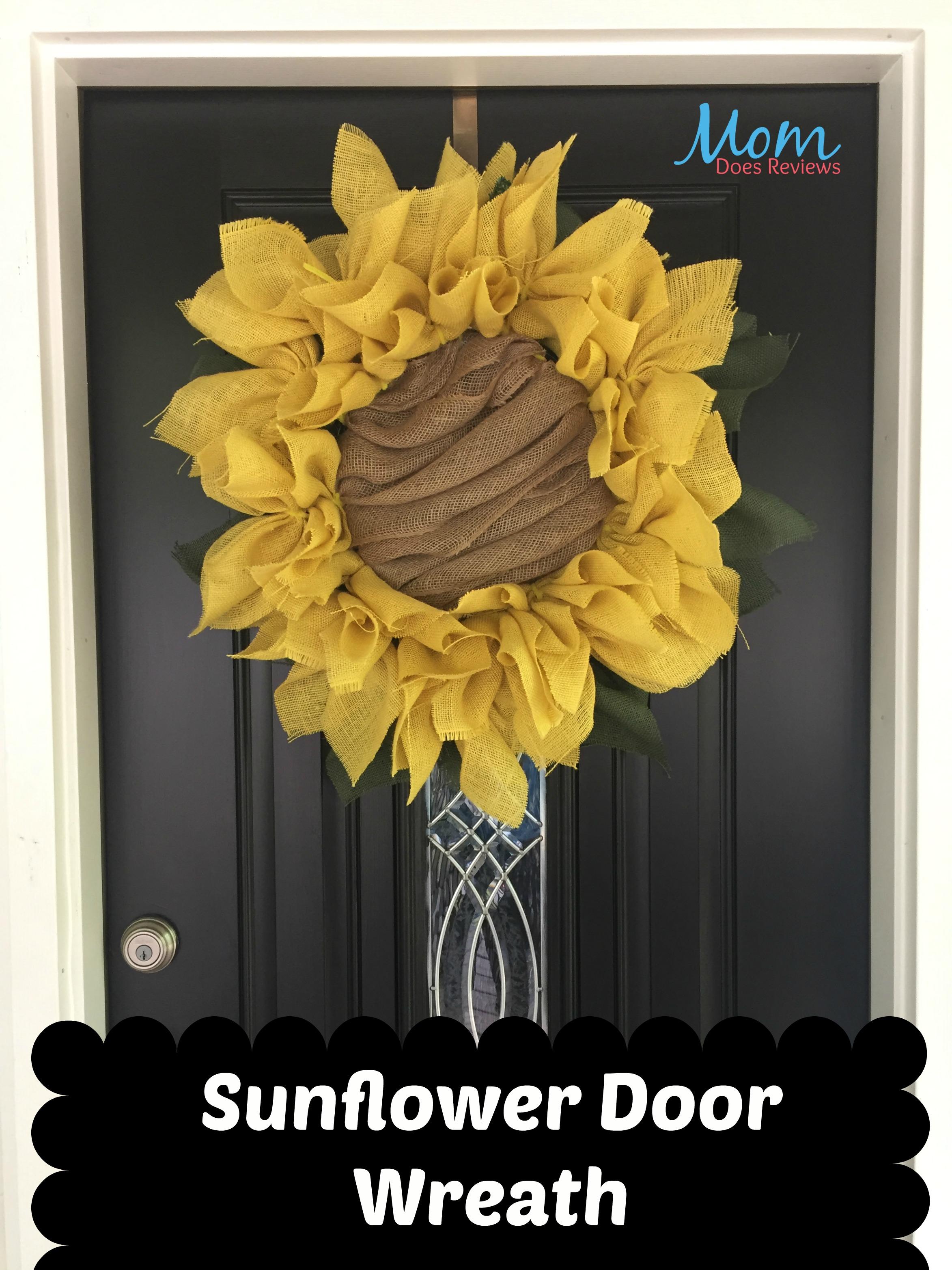 Diy Sunflower Burlap Wreath Craft