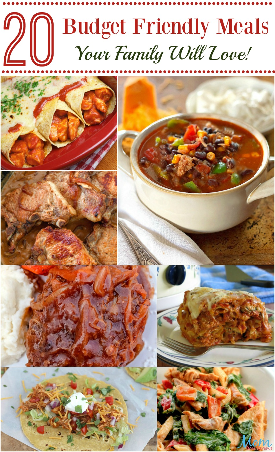 20 Budget Friendly Meals Your Family Will Love! Volume 2 of 2