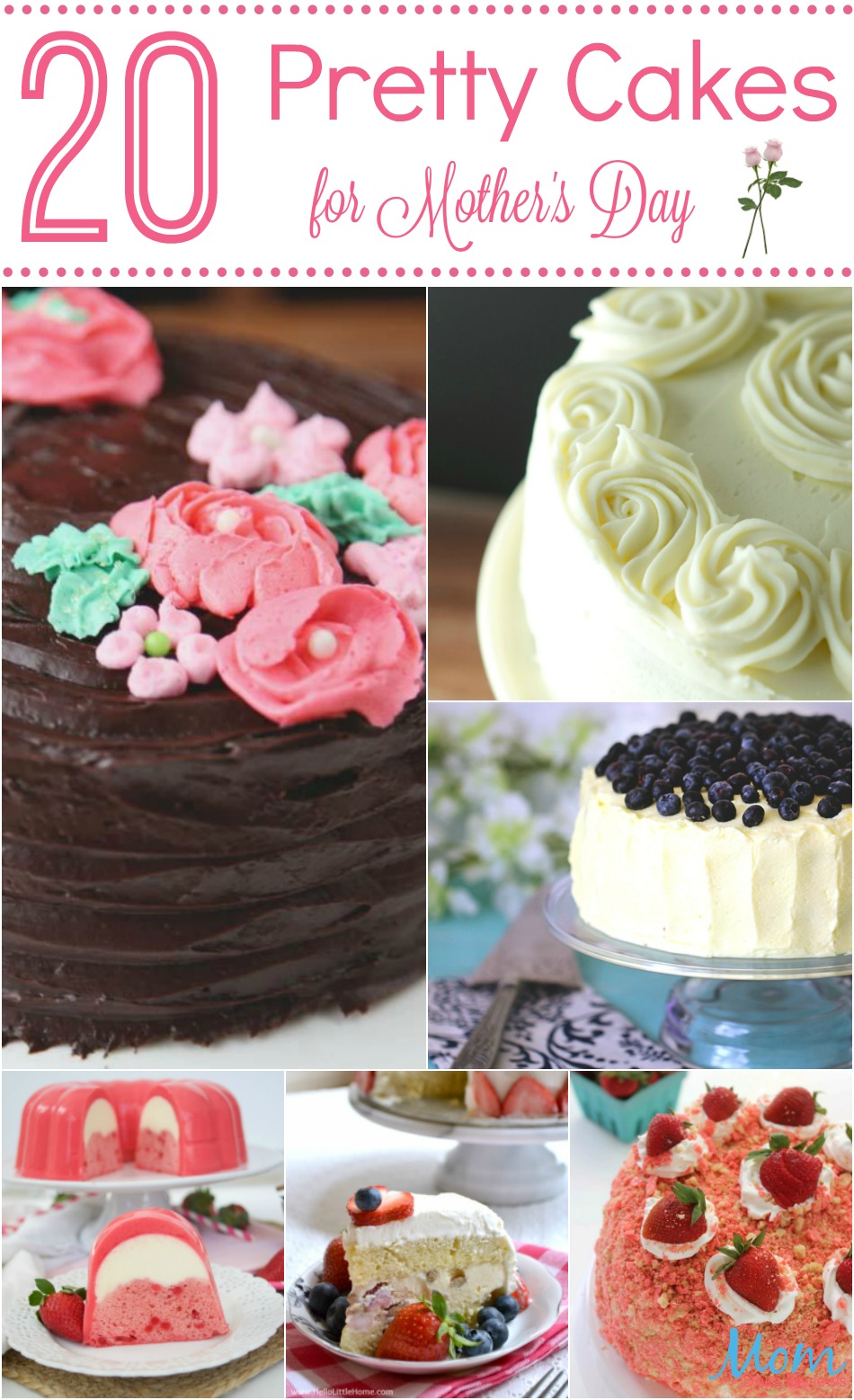 20 Pretty Cakes for Mother's Day