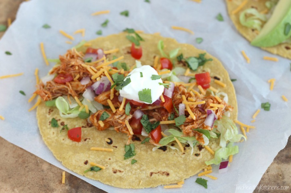 3 Ingredient Crock Pot Chicken Tacos