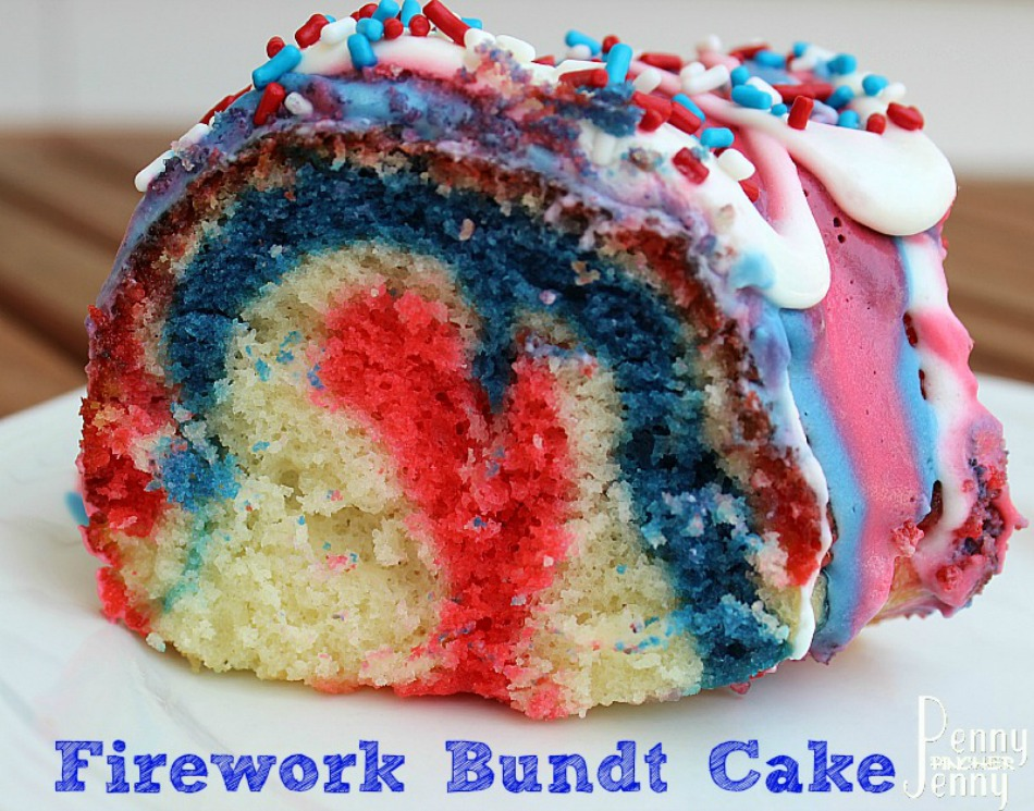 Firework Bundt Cake
