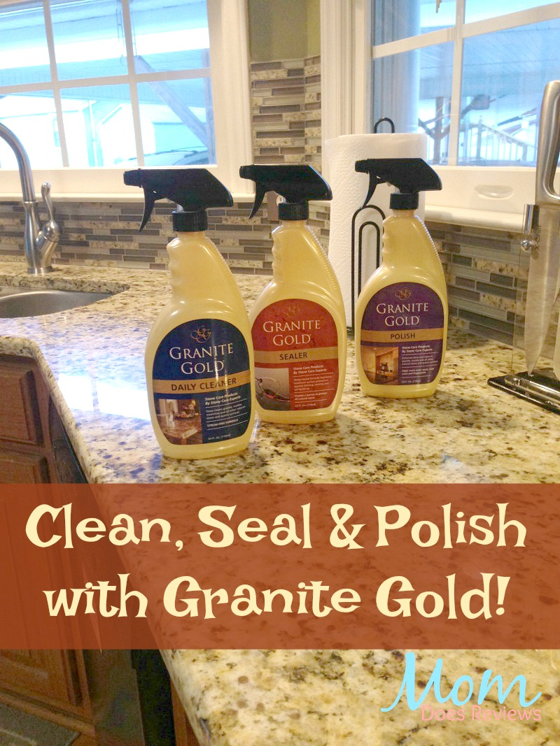 Clean, Seal and Polish with Granite Gold.