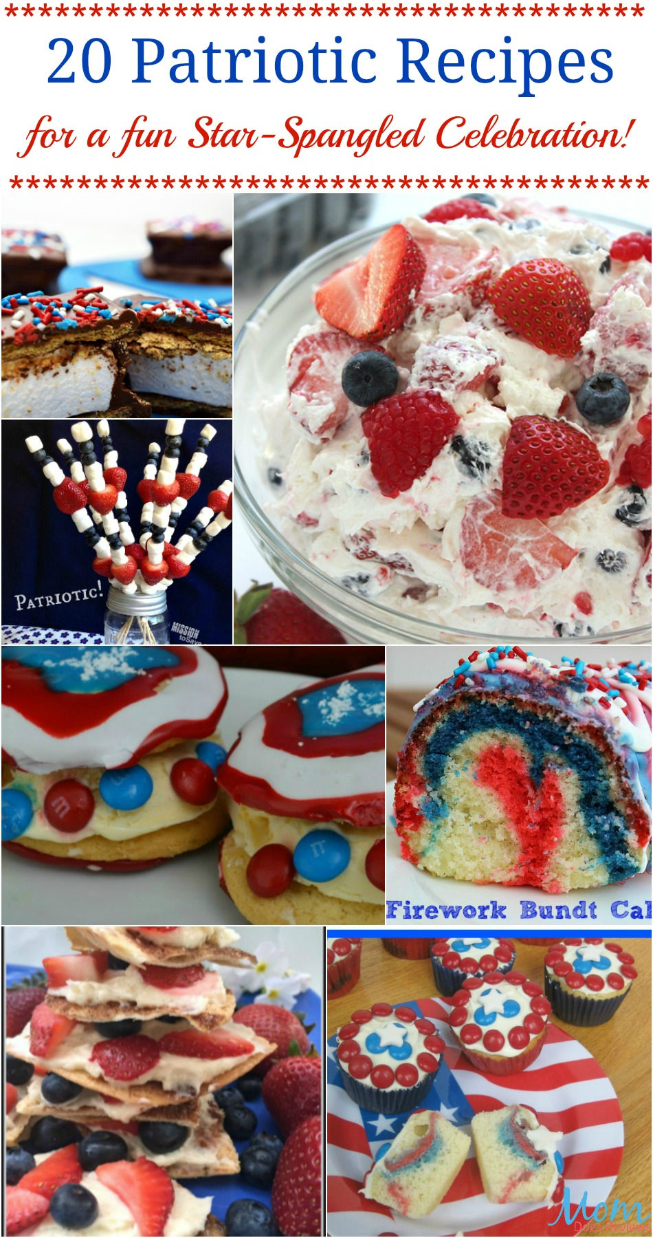 20 Patriotic Recipes for a fun Star-Spangled Celebration!