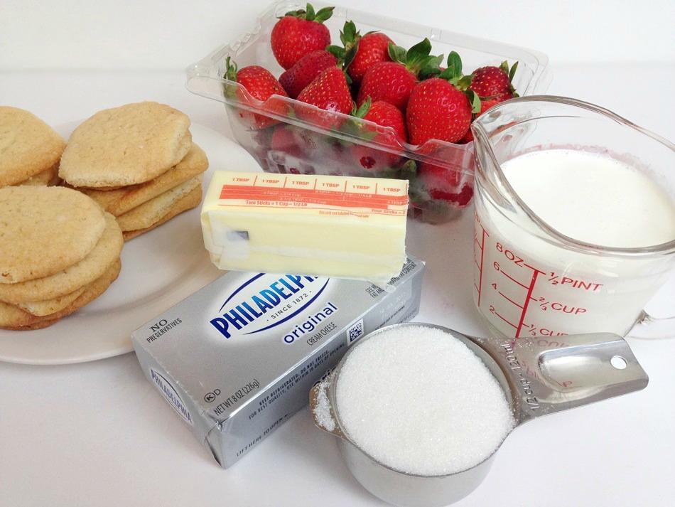 Strawberry Crunch Bars ingredients