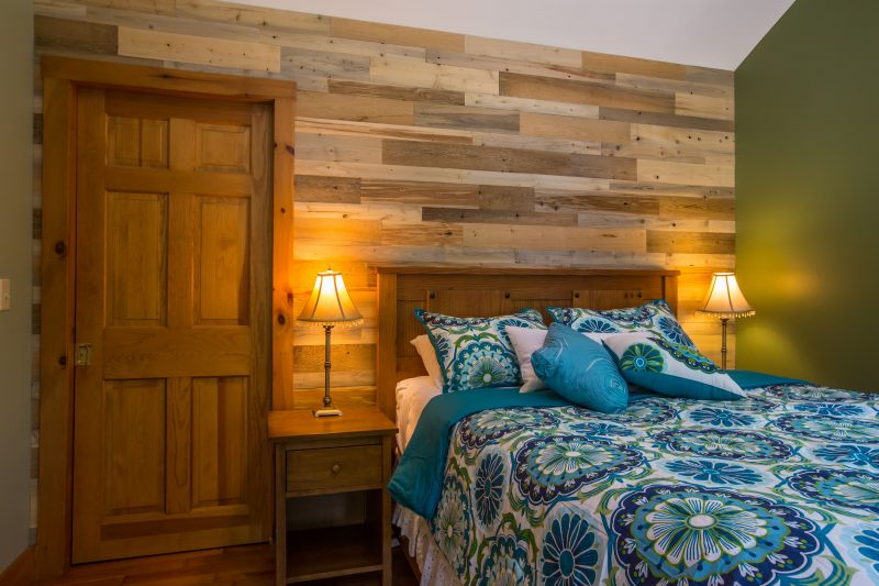 DIY feature wall from Reclaimed wood