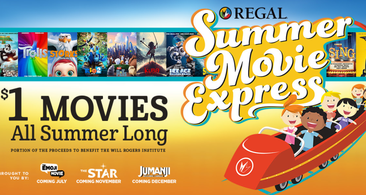 Summer Movie Express at Regal Cinemas! Movies only $1!