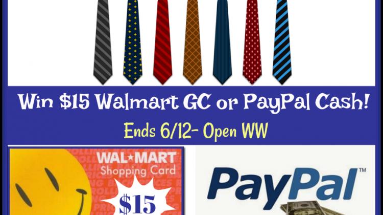 #Win $15 Walmart GC or PayPal Cash! WW #DadsDayHop ends 6/12
