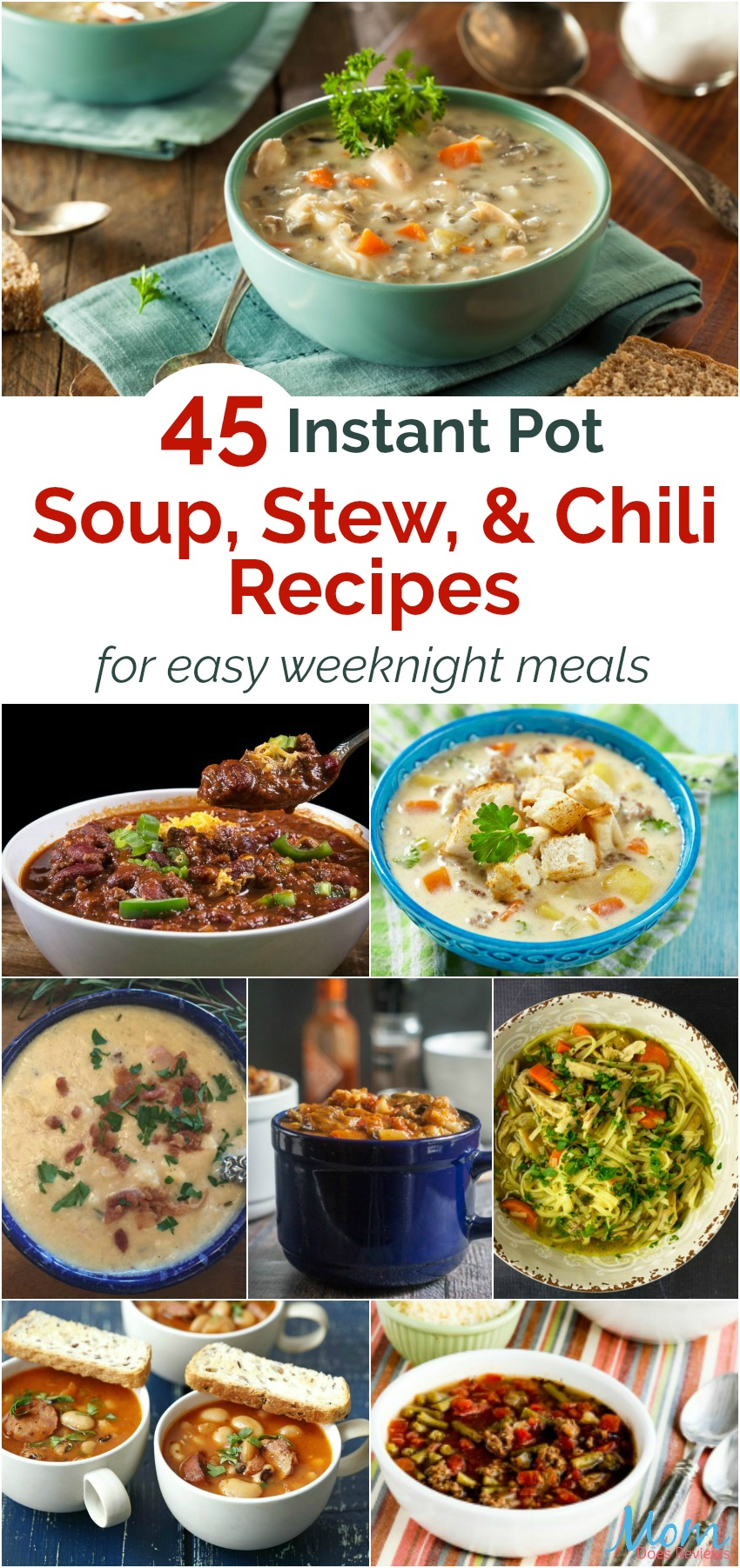 45 Instant Pot Soup, Stew, and Chili Recipes vertical banner