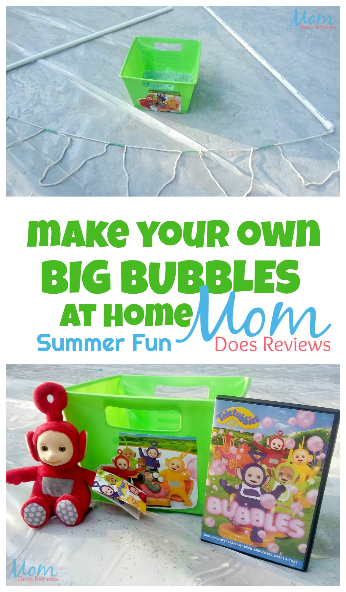 Make Your Own Big Bubbles at Home! Grab this Wand Style and Bubble Recipe