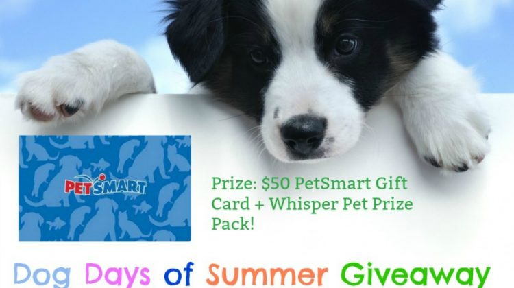 #Win a $50 PetSmart Gift Card and a Whisper Pet Prize Pack! US Ends 7/12