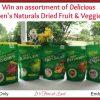 Karen's Naturals Dried Fruit and Veggies Giveaway button