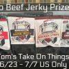beef jerky prize