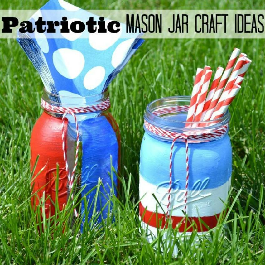 Patriotic Mason Jar Craft