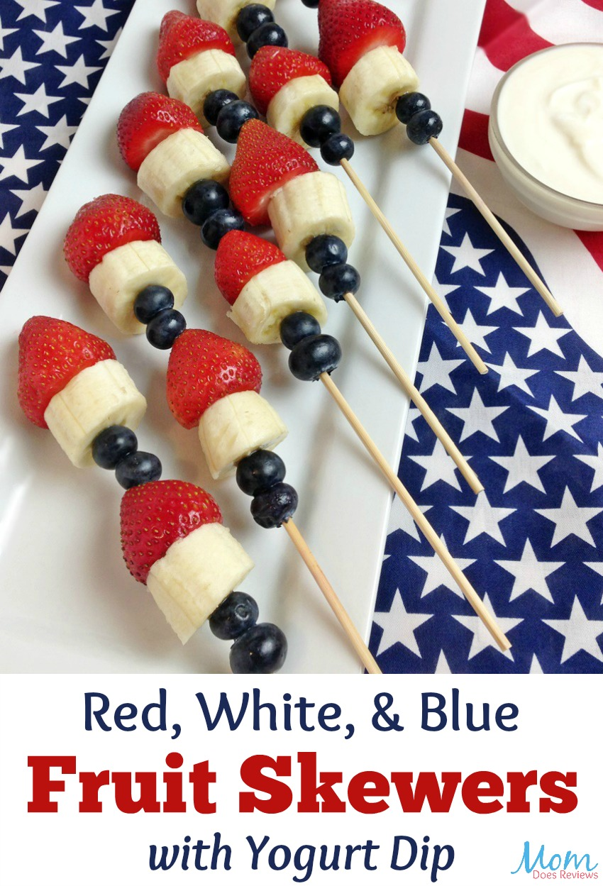 Red, White, & Blue Fruit Skewers