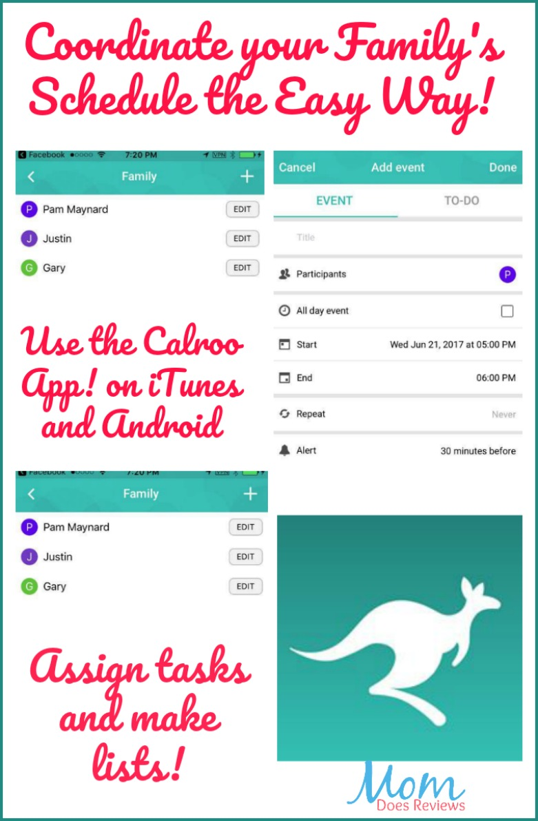 Check out the Calroo Family Calendar App!