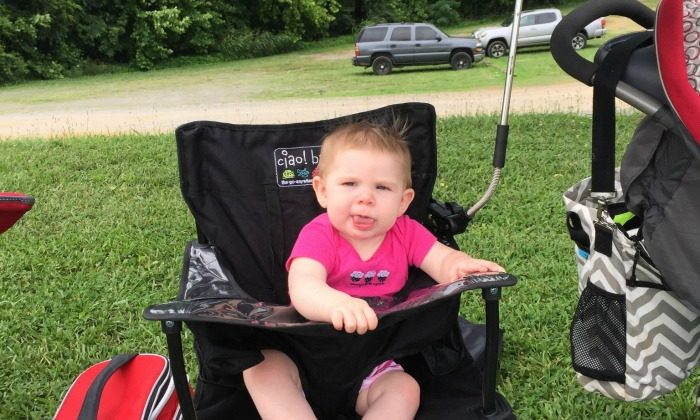 Travel highchair from ciao! baby is great for families on the go with babies