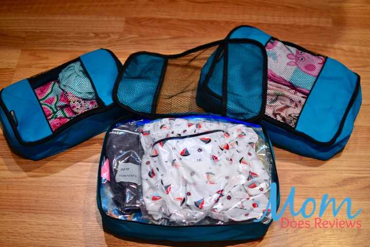 teal packing cubes