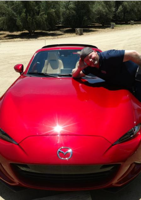 Me on Mazda MX-5