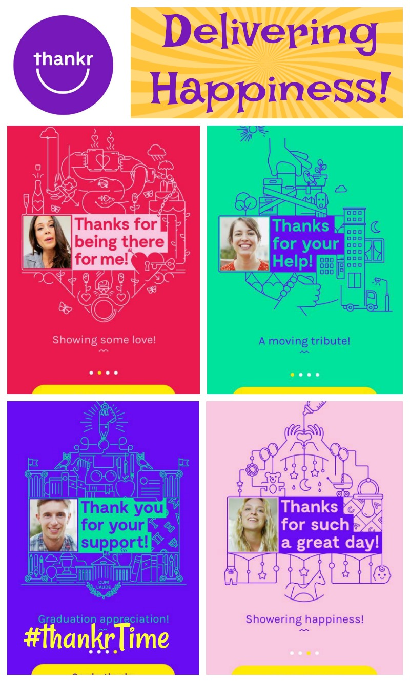 The Thankr App- Delivering Happiness by saying Thank You!
