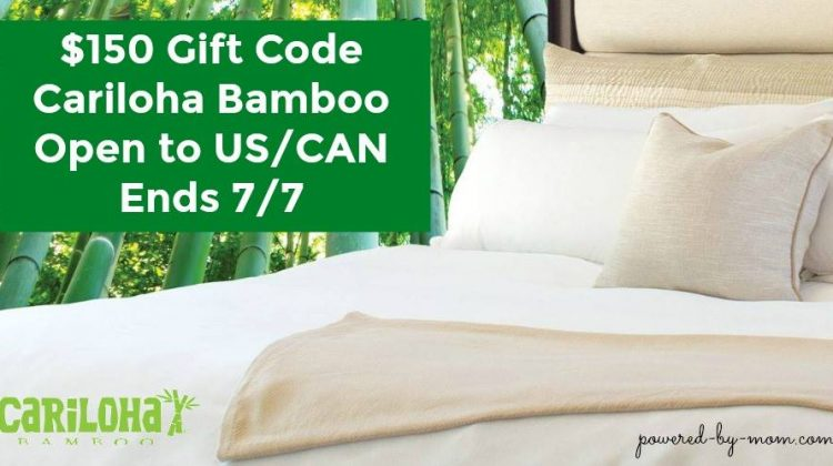 #Win $150 to Cariloha Bamboo US/CAN ends 7/7