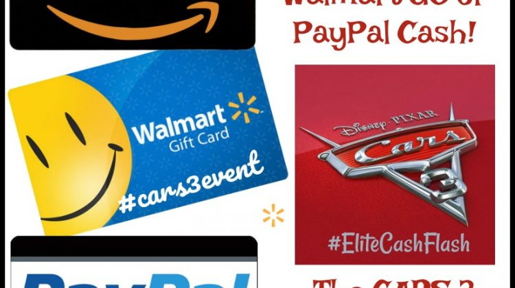 #Win $50 Walmart, Amazon or Paypal CASH #Cars3 IS IN THEATERS! #Cars3Event