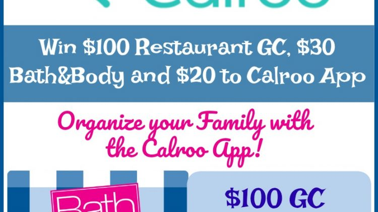 #Win $100  Restaurant GC, $30 Bath&Body Works GC, $20 Calroo App! $150 arv