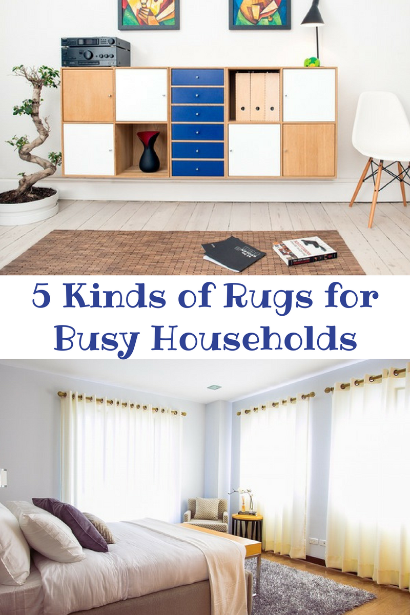 5 Kinds of Rugs for Busy Households