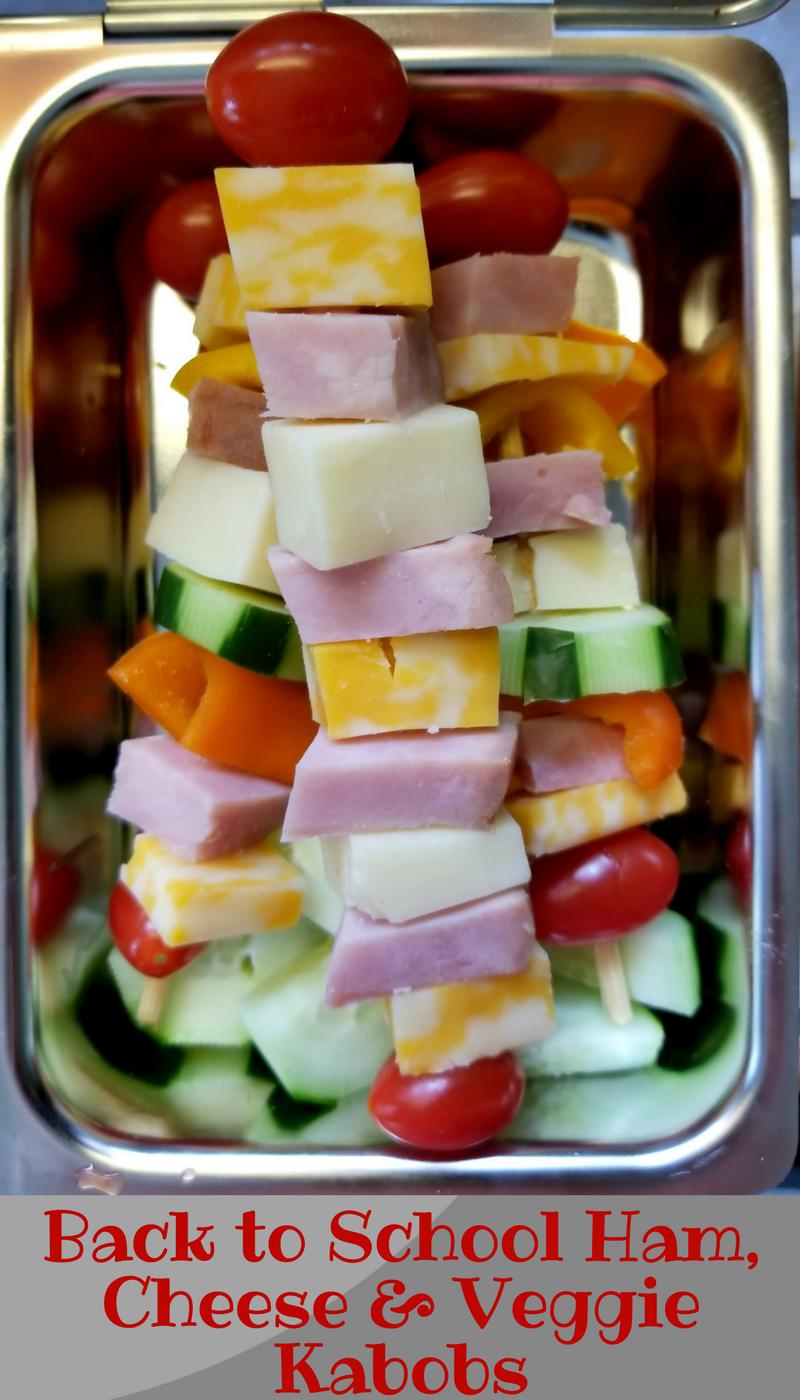 Ham, Cheese and Veggie Kabobs