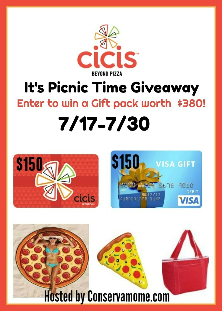 WIN Cici's pizza picnic time giveaway