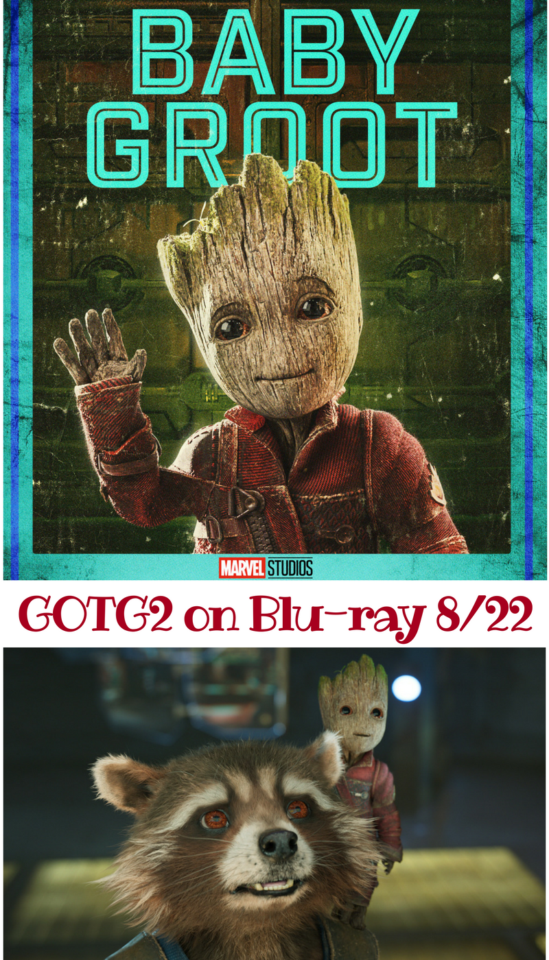 GOTG2 on Blu-ray 8/22- Groot and Rocket