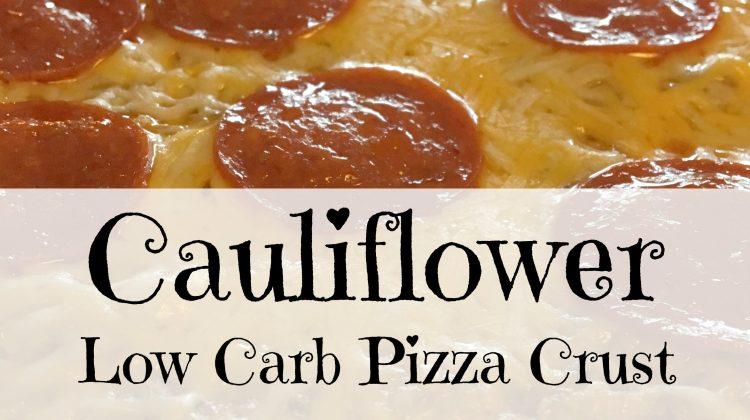 Low Carb Cauliflower Pizza #Recipe