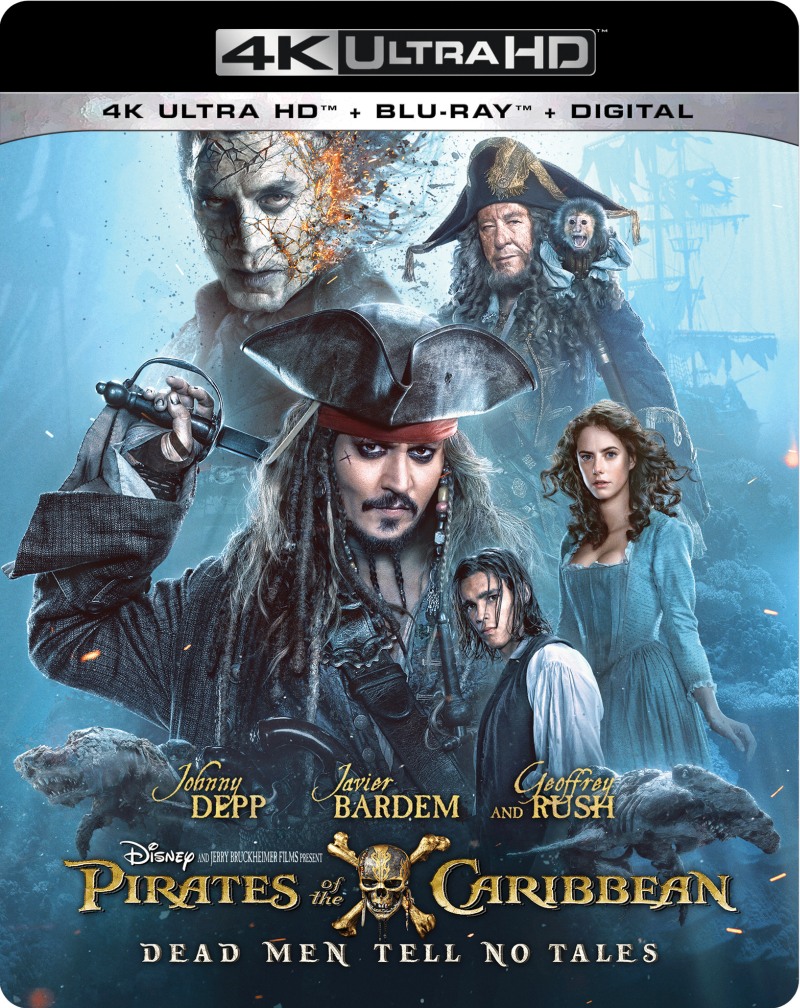 Pirates of the Caribbean, Dead Men Tell no Tales DVD