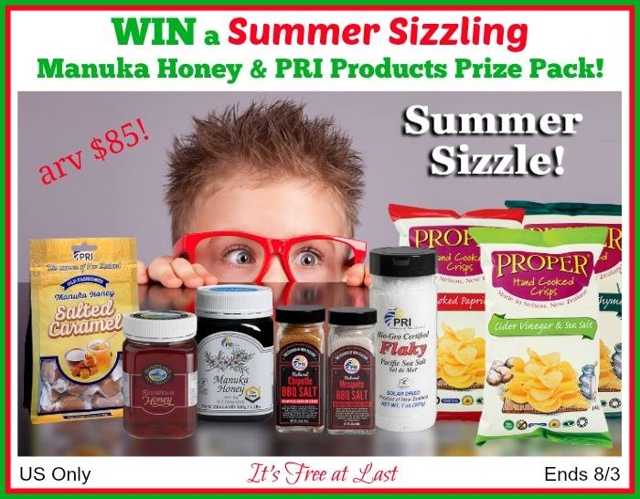 Summer Sizzling Manuka Honey & PRI Products Prize Pack (arv $85)! #ShopPRI #SummerSizzle