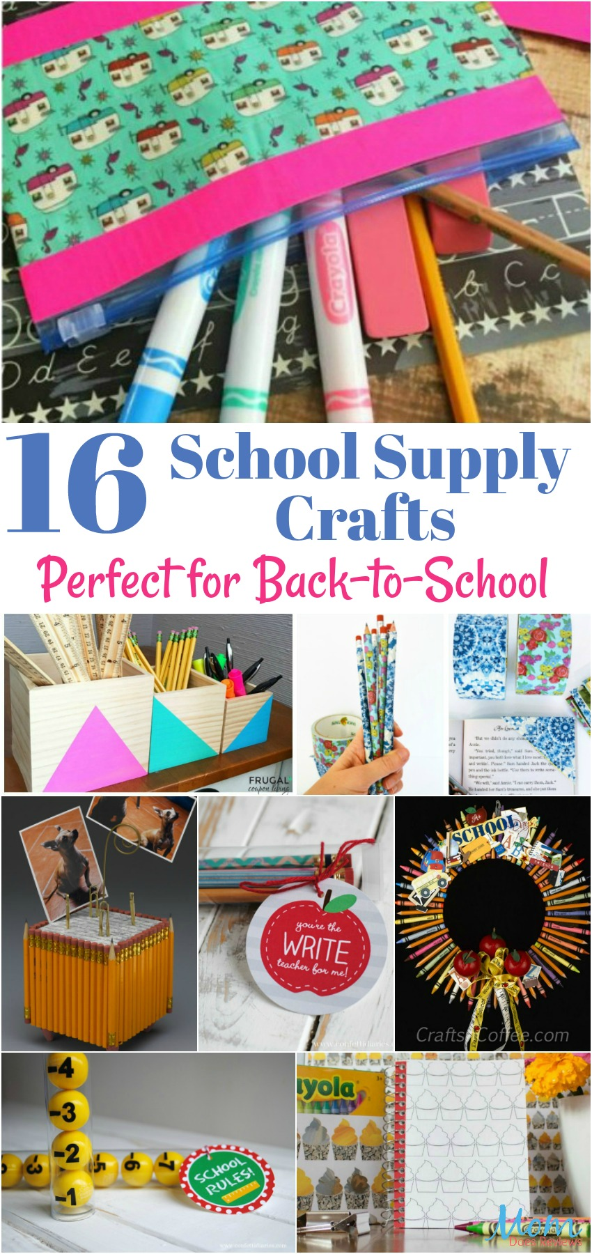 16 School Supply Crafts Perfect for Back-to-School banner
