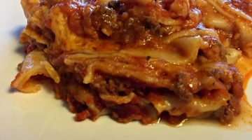 Crock Pot Lasagna on The Cheap ONLY 4 INGREDIENTS