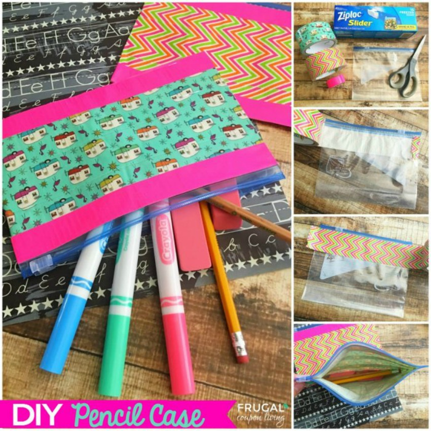 DIY Pencil Case, with a Ziploc and Duct Tape