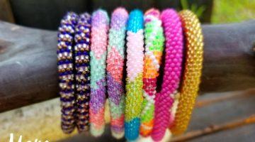 Sashka Co. Glass Beaded Bracelets are Made with Love! #Back2School17