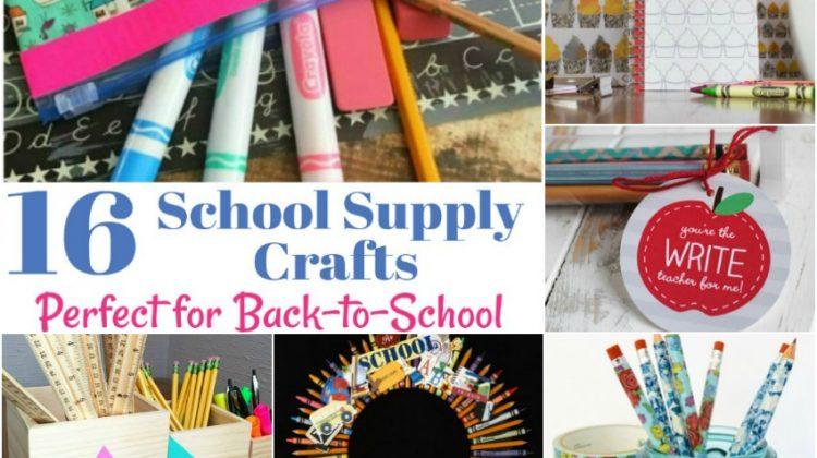 School Supply Crafts banner horizontal