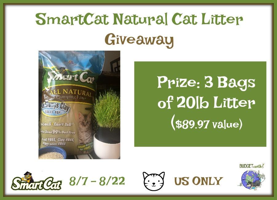 SmartCat Natural Cat Litter Giveaway