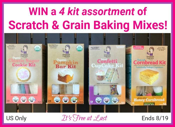 Win Scratch and grain baking mixes