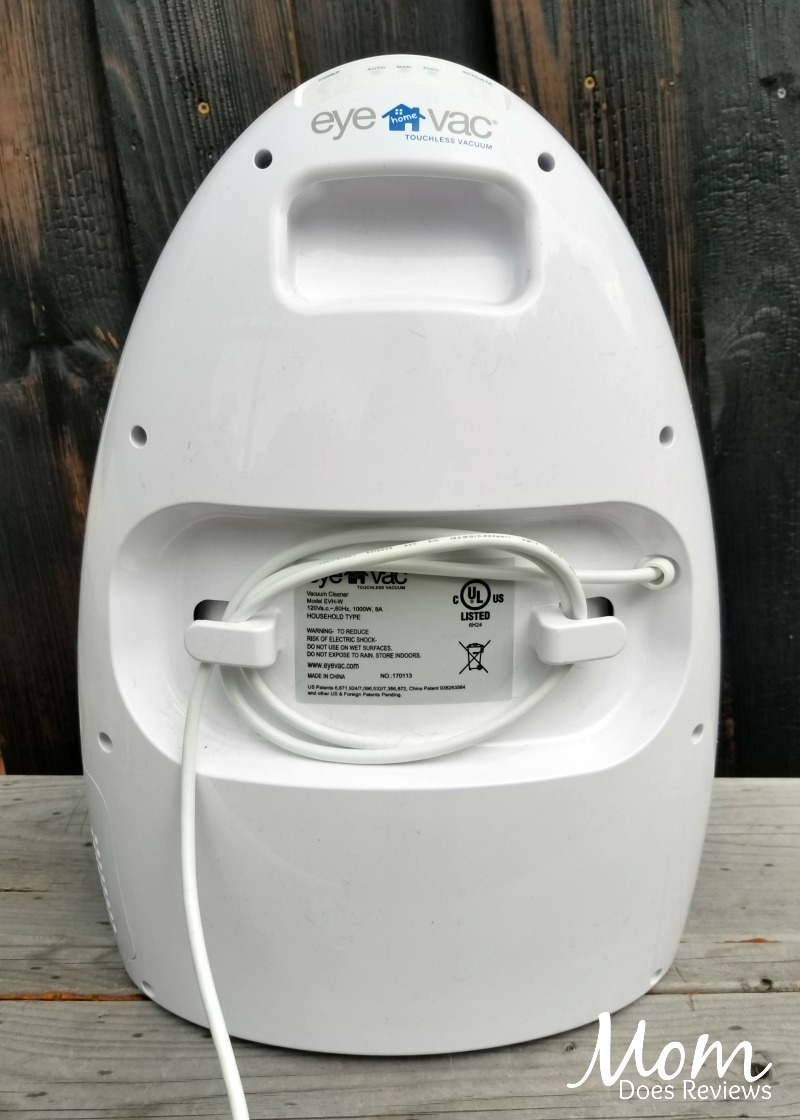 EyeVac Back with power cord storage