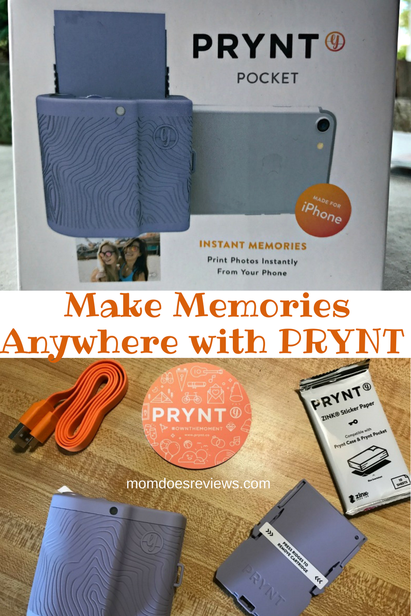 Make Memories Anywhere with PRYNT Portable Printer