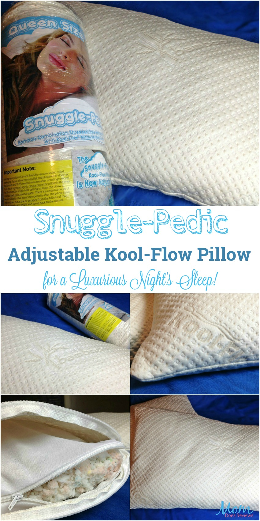 Snuggle-Pedic Adjustable Kool-Flow Pillow for a Luxurious Night's Sleep!