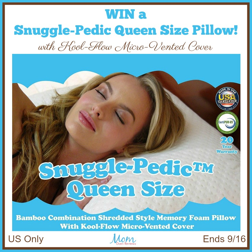 Snuggle-Pedic Giveaway button
