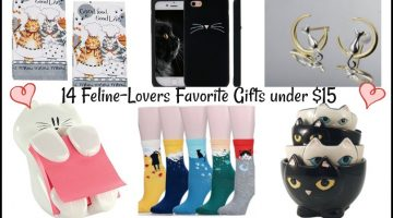 14 Feline-Lovers Favorite Gifts under $15 #HappyCatMonth