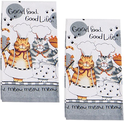 cat lovers kitchen towels