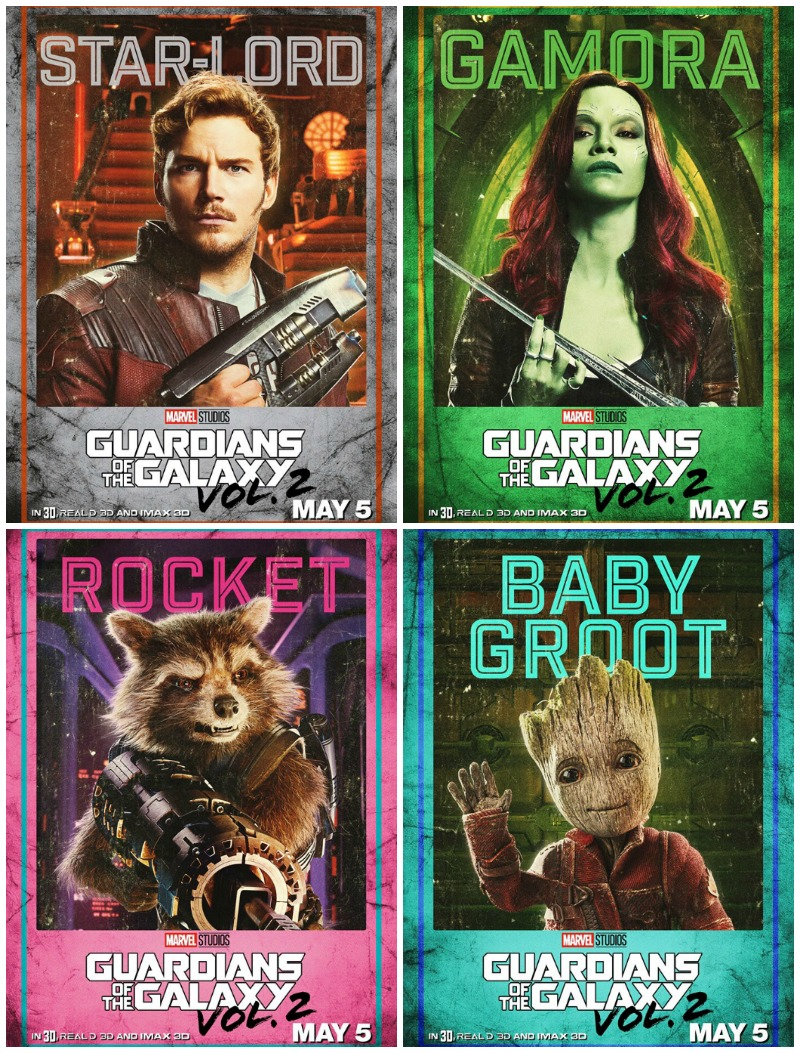 GOTG2 character posters