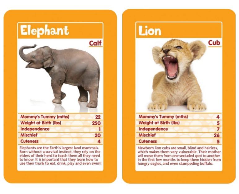 Trump cards baby animals