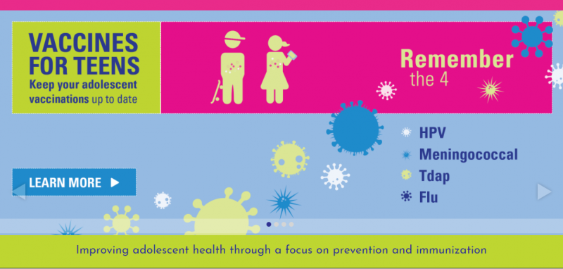 Improving adolescent health through a focus on prevention and immunization