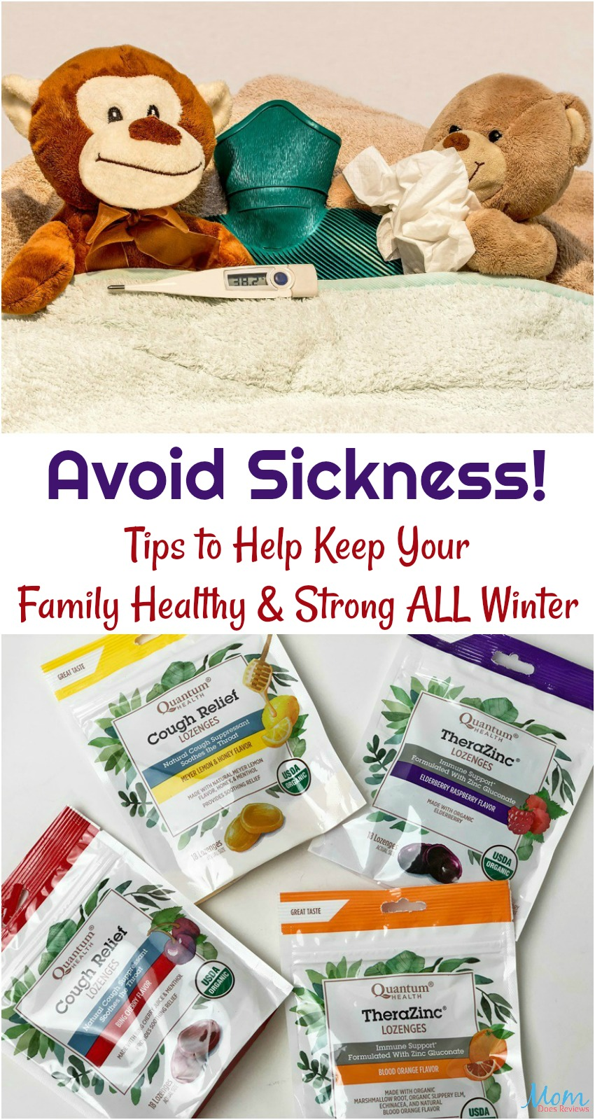 Avoid Sickness with Tips to Help Keep Your Family Healthy & Strong ALL Winter banner